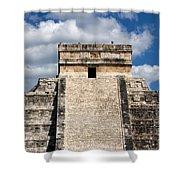 Kukulkan Pyramid At Chichen Itza Shower Curtain