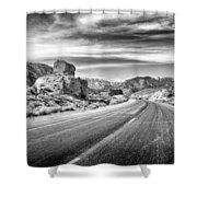 Kyle Canyon Road Shower Curtain