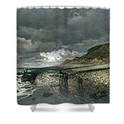 La Pointe De La Heve At Low Tide Shower Curtain