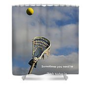 Lacrosse Reach Higher Shower Curtain