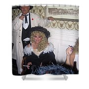 Lady And Gent Homage Celebrants Crystal Palace Saloon Tombstone Arizona 1932-2004 Shower Curtain