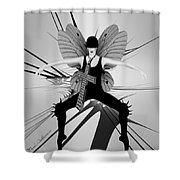 Lady D 4 Shower Curtain
