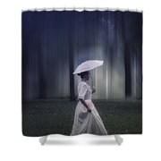 Lady In The Woods Shower Curtain by Joana Kruse