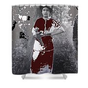 Lady Soldier Unknown Mexico Location 1905-1910-2014 Shower Curtain