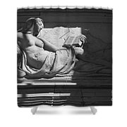 Lady With The Book Shower Curtain by Four Hands Art