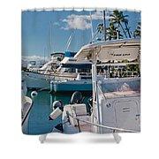 Lahaina Marina Maui Hawaii Shower Curtain