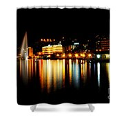 Lake At Night Shower Curtain