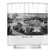 Lake Erie - 1815 Shower Curtain