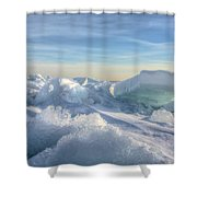 Lake Erie Ice Sunrise Shower Curtain