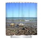 Lake Huron Shower Curtain