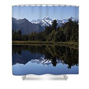 Lake Matheson New Zealand Shower Curtain