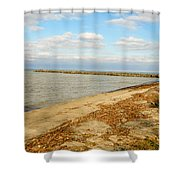 Lake Ontario Shoreline Shower Curtain