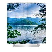Lake Santeetlah In Great Smoky Mountains North Carolina Shower Curtain