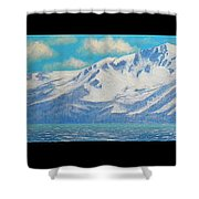 Lake Tahoe After The Storm Triptych Shower Curtain