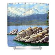 Lake Tahoe Sand Harbor Shower Curtain