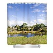 Lake Waratah In North-west Tasmania Australia Shower Curtain