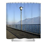 Lakefront With Mountain Shower Curtain