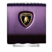 Lamborghini Diablo Se Roadster Emblem Shower Curtain