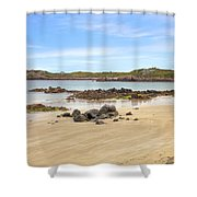 L'ancresse Bay - Guernsey Shower Curtain by Joana Kruse