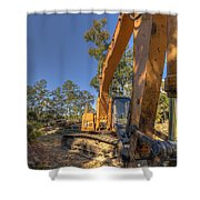 Cat Excavator  Shower Curtain