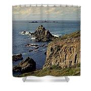 Seascape Lands End Shower Curtain
