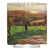 Landscape From Bretagne Shower Curtain