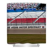 Las Vegas Speedway Grandstands Shower Curtain