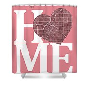 Las Vegas Street Map Home Heart - Las Vegas Nevada Road Map In A Shower Curtain