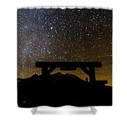 Last Dollar Gate And Milky Way Starry Shower Curtain
