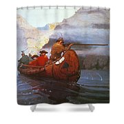 Last Of The Mohicans, 1919 Shower Curtain