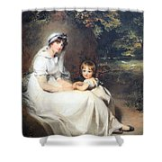 Lawrence's Lady Mary Templetown And Her Eldest Son Shower Curtain
