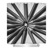 Lead Pencils Isolated On White Shower Curtain