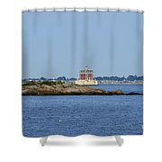 Ledge Lighthouse  Shower Curtain