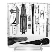 Leeuwenhoek: Microscope Shower Curtain