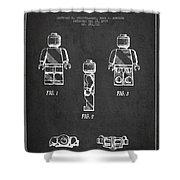Lego Toy Figure Patent - Dark Shower Curtain