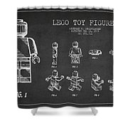 Lego Toy Figure Patent Drawing Shower Curtain