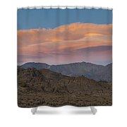 Lenticular Clouds Over Alabama Hills Shower Curtain