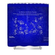 Les Moteurs Auxiliaries Francais Shower Curtain
