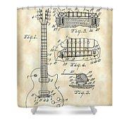 Les Paul Guitar Patent 1953 - Vintage Shower Curtain