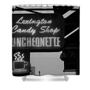 Lexington Candy Shop In Black And White Shower Curtain