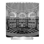 Library Of Congress Main Reading Room Shower Curtain by Susan Candelario