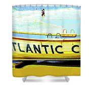 Lifeboat Atlantic City New Jersey Shower Curtain