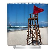 Lifeguard Shower Curtain