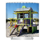 Lifeguard Station Shower Curtain