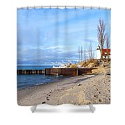 Light And Beach Shower Curtain