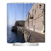 Light And Shadow In Hydra Island Shower Curtain