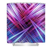 Light Trails Shower Curtain