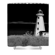 Lighthouse At North Cape On Pei Shower Curtain