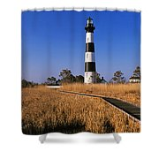 Lighthouse In A Field, Bodie Island Shower Curtain