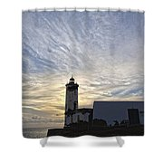 Lighthouse Maria Pia Shower Curtain